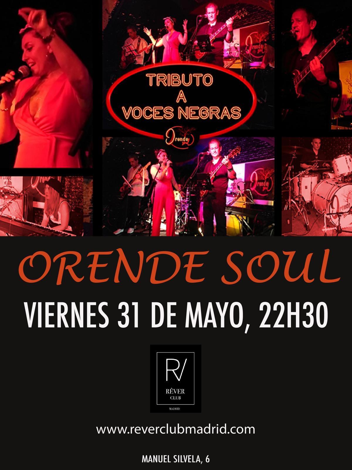 Orende Soul en Rever Club Madrid (31/05/19)