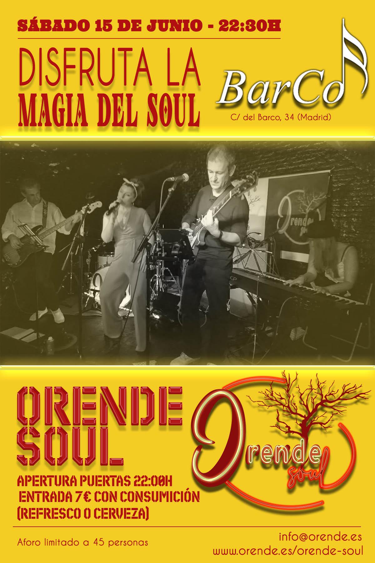 Orende Soul en la Sala BarCo (15/06/19)